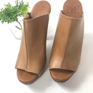 DVF Leather Mules Size 9